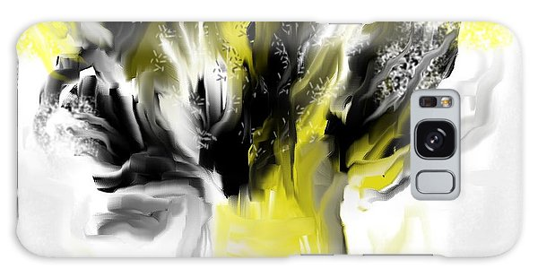 Black And Yellow Flower Bouquet Galaxy Case