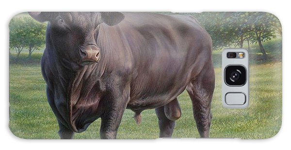 Black Angus Bull 2 Galaxy Case