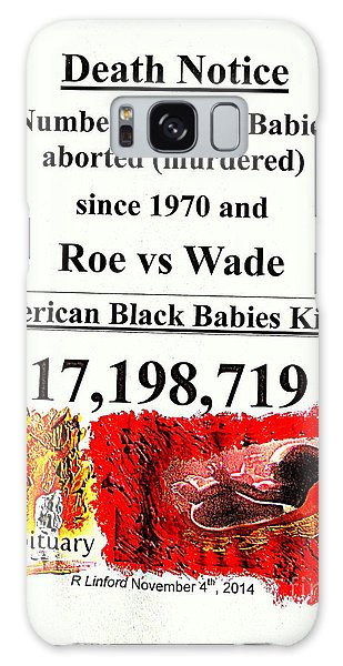Black Babies Killed Aborted Murdered 1 Since 1970 And Roe Vs Wade Galaxy Case by Richard W Linford