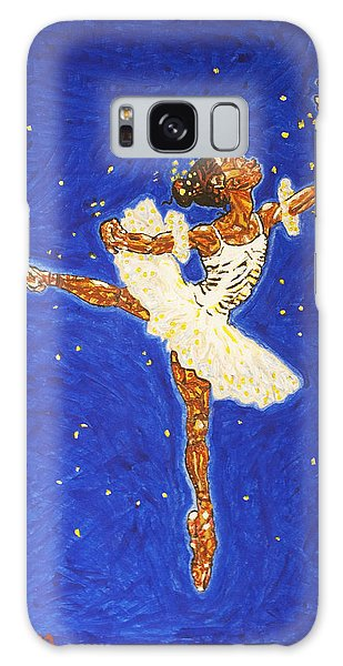 Black Ballerina Galaxy Case