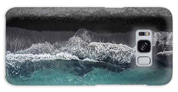 Atlantic Ocean Galaxy Case - Black Beach by Marcus Hennen
