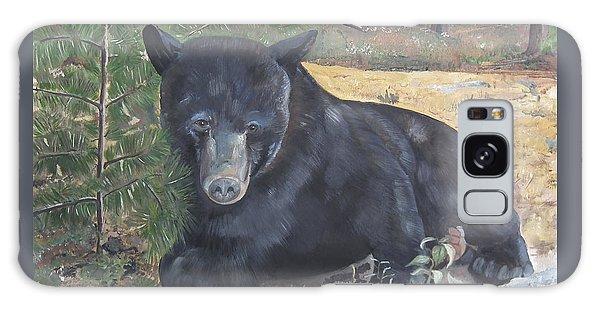 Black Bear - Wildlife Art -scruffy Galaxy Case