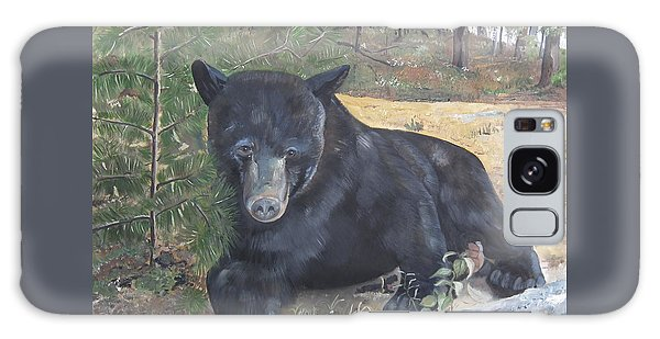 Black Bear - Wildlife Art -scruffy Galaxy Case by Jan Dappen