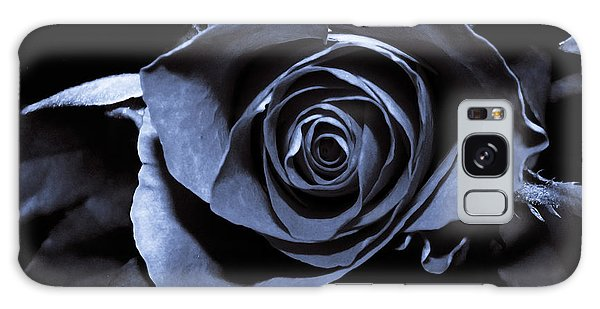 Black Blue Rose Galaxy Case
