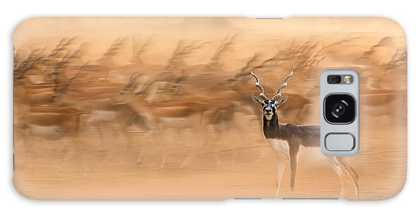 Long Exposure Galaxy Case - Black Bucks by Sayyed Nayyer Reza