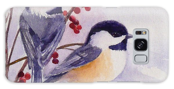 Black-capped Chickadees Galaxy Case