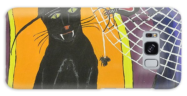 Black Cat In A Hat  Galaxy Case