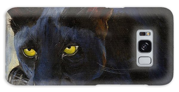 Black Cat Galaxy Case by Jamie Frier