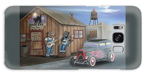 Black Cat Juke Joint Galaxy Case