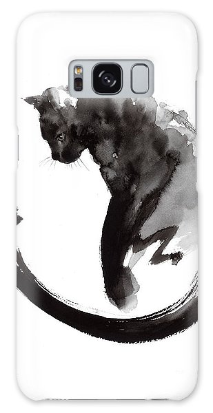 Cat Galaxy S8 Case - Black Cat by Mariusz Szmerdt