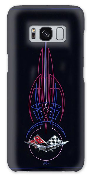 Black Corvette Galaxy Case