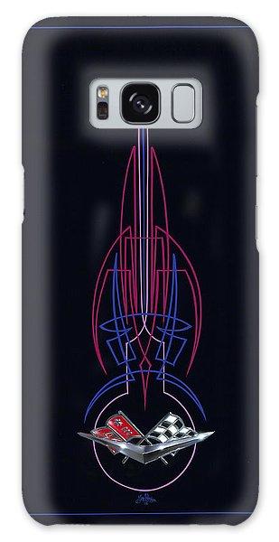 Black Corvette Galaxy Case