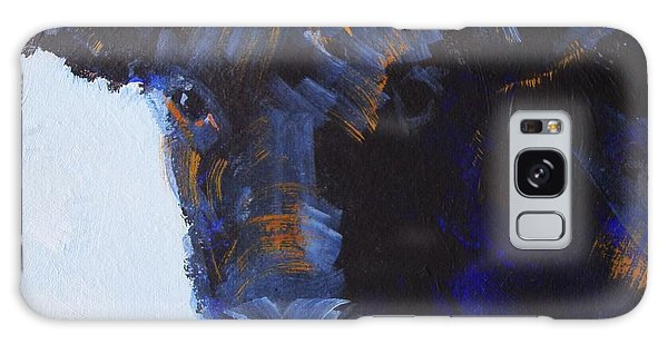 Black Cow Head Galaxy Case