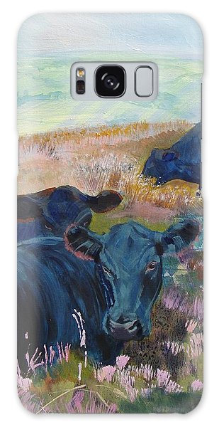 Black Cows On Dartmoor Galaxy Case