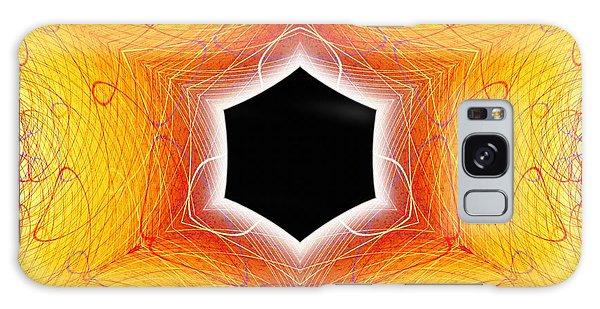 Galaxy Case featuring the digital art Black Cube by Derek Gedney