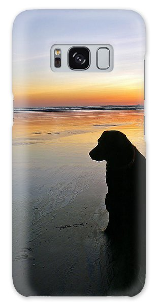 Black Dog Sundown Galaxy Case