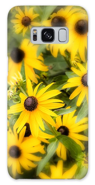 Black Eyed Susan Blooms Galaxy Case by John Pagliuca