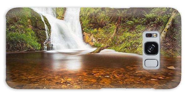Black Forrest Waterfall Galaxy Case