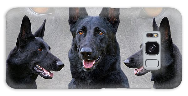 Black German Shepherd Dog Collage Galaxy Case