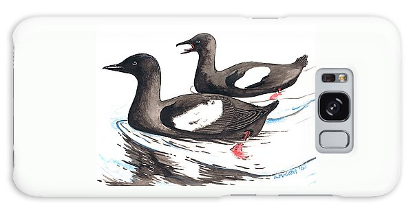 Black Guillemot Galaxy Case