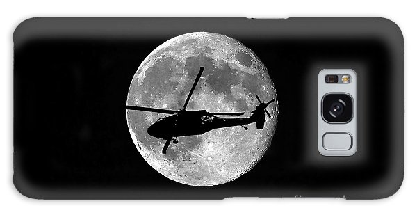 Helicopter Galaxy S8 Case - Black Hawk Moon by Al Powell Photography USA