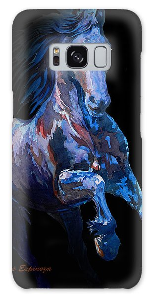 Black Horse In Black Galaxy Case by J- J- Espinoza