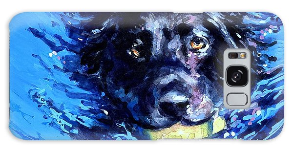 Black Lab  Blue Wake Galaxy Case