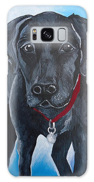 Black Lab Galaxy Case by Leslie Manley