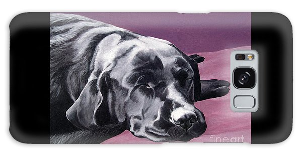 Black Labrador Beauty Sleep Galaxy Case