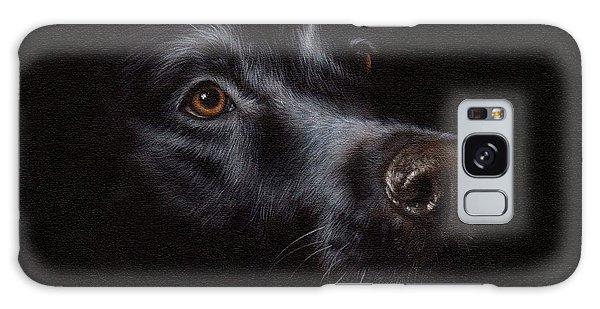 Black Labrador Painting Galaxy Case