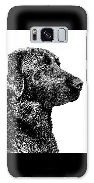 Black Labrador Retriever Dog Monochrome Galaxy Case