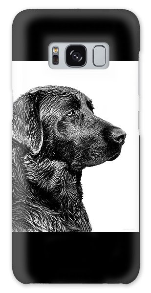 Black Labrador Retriever Dog Monochrome Galaxy Case by Jennie Marie Schell