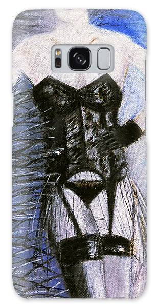 Black Lace Corset Art Print Galaxy Case