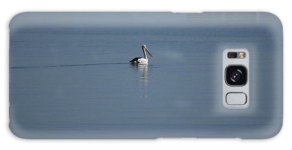 Black Line Pelican  Calm Water Galaxy Case by Phoenix De Vries