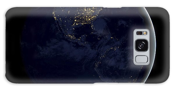 Earth From Space Galaxy Case - Black Marble by Adam Romanowicz