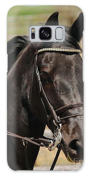 Black Mare Portrait Galaxy Case
