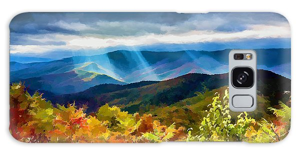 Black Mountains Overlook On The Blue Ridge Parkway Galaxy Case