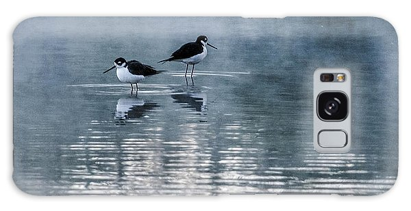 Black-necked Stilts Galaxy Case by Tam Ryan