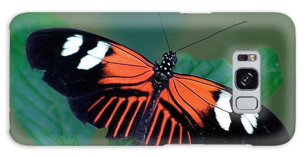 Black Orange And White Galaxy Case by Karen Stephenson