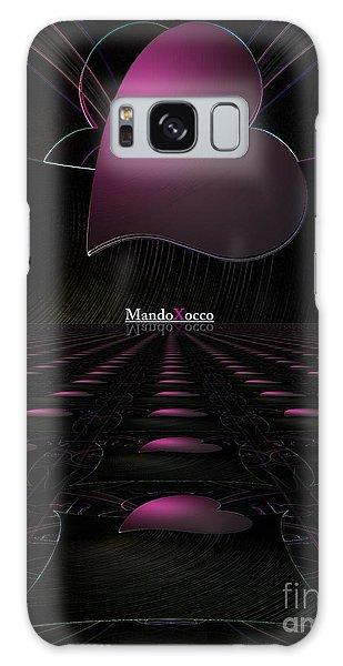 Black Pink Luv Line Galaxy Case