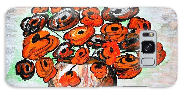 Black Poppies Galaxy Case by Ramona Matei
