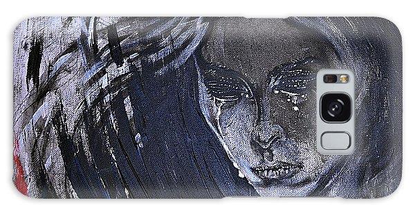 black portrait 16 Juliette Galaxy Case by Sandro Ramani