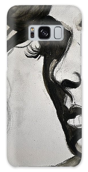 Black Portrait 16 Galaxy Case by Sandro Ramani