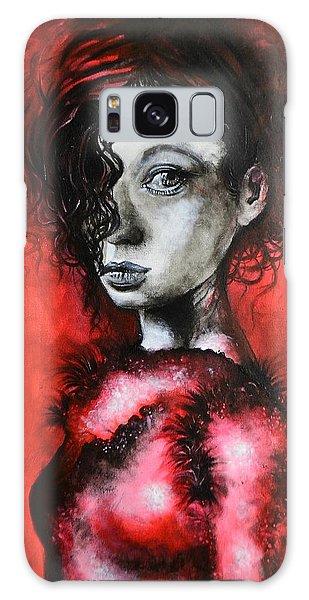 Black Portrait 23 Galaxy Case by Sandro Ramani