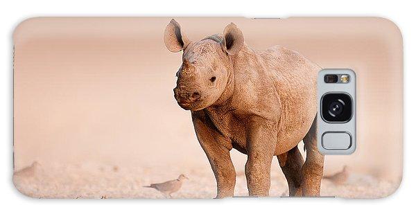 Dove Galaxy S8 Case - Black Rhinoceros Baby by Johan Swanepoel