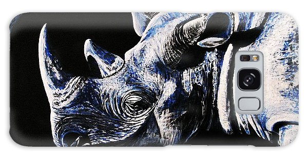 Black Rino Galaxy Case by Viktor Lazarev
