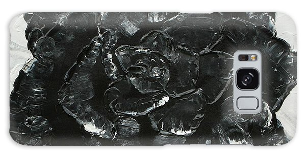 Galaxy Case featuring the painting Black Rose I by Aliya Michelle