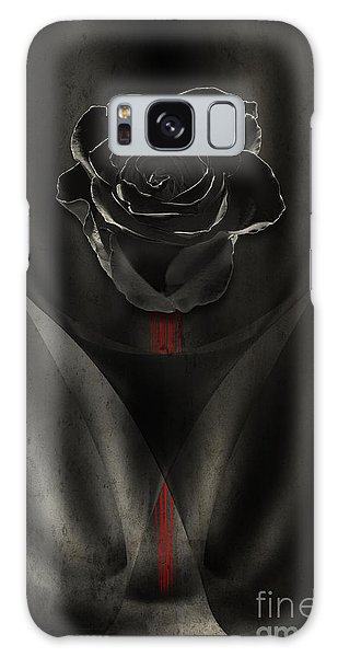 Black Rose In Dark Galaxy Case