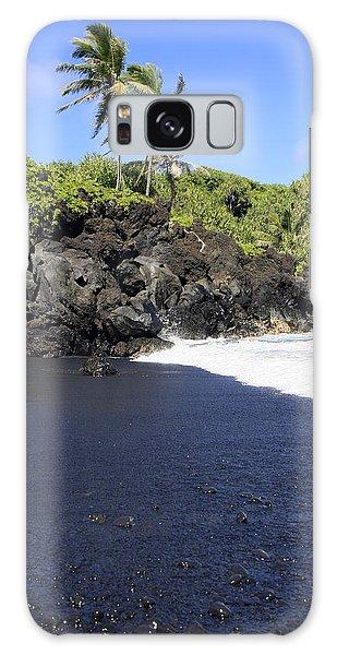 Black Sand Beach 1 Galaxy Case