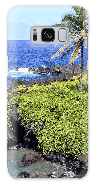 Black Sand Beach Lookout Park Galaxy Case
